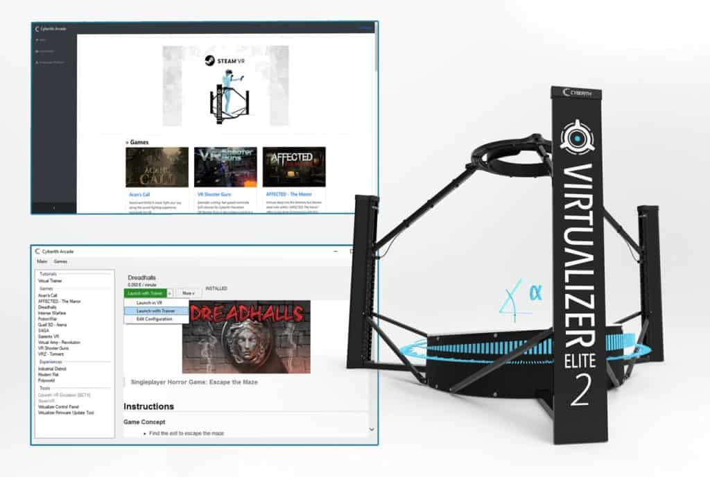 Cyberith Arcade Content Distribution System