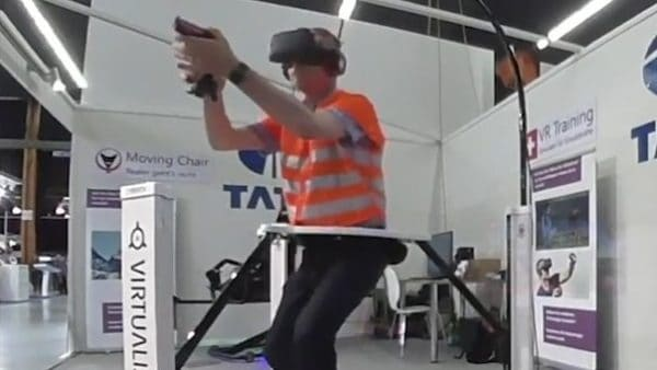 Swiss Police in VR Training with Cyberith Virtualizer