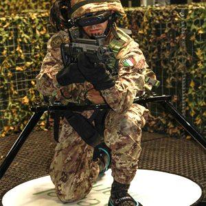 Italian Soldier in Virtualizer VR Treadmill
