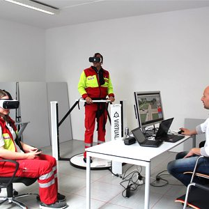 Johanniter Rescue Forces Paramedics in VR Treadmill Virtualizer