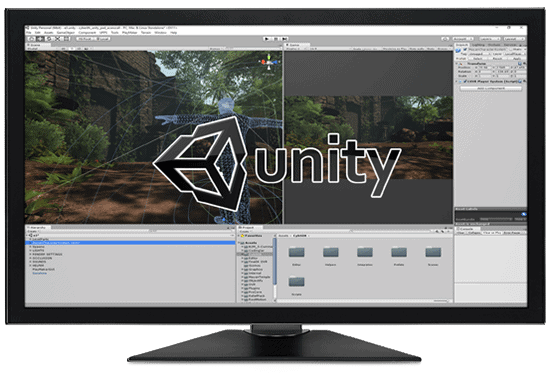 Working Screen of Unity