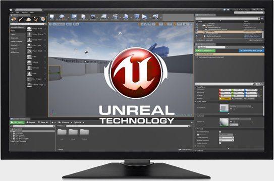 Unreal Engine working screen